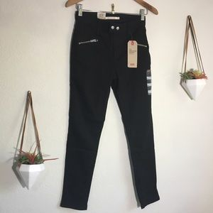 NWT Levi's 721 high rise skinny black ankle jeans